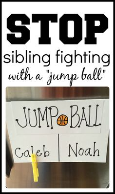 Stop sibling fighting and eliminate squabbling in your home using this creative method! If it works on the basketball court, it can work in our homes!