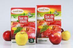 Casa TEO, suc natural de mere, obtinut 100 % din fruct