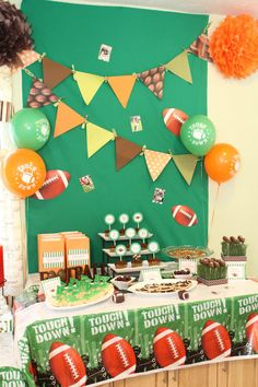 Football triangle garland in your team colors