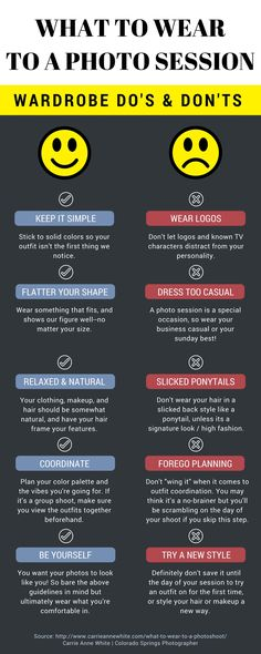 Crucial wardrobe planning tips for your photo session. What to wear, and what not to wear!