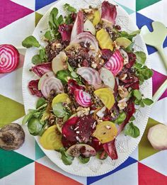 Puy Lentil, Beetroot and Apple Salad Nutrients In Vegetables, Veggies, Vegetarian Recipes, Cooking Recipes, Healthy Recipes, Hemsley And Hemsley, Apple Salad, Daily Meals, Beetroot