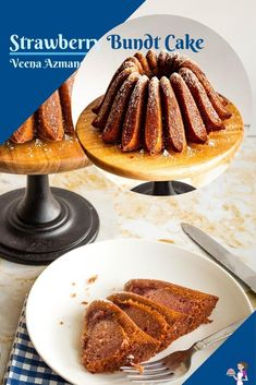 This moist strawberry bundt cake is an oil-based cake with a strawberry filling in the batter. Those pockets of filling is what makes this cake so unique that everyone will want the recipe from you. #strawberry #bundt #cake #recipe #filling #strawberrybundtcake #bundtcake #strawberrycake #cakerecipes #cakeswithfruits #berrycake
