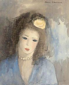 Marie Laurencin (1883-1956, France) - Femme A La Mantille