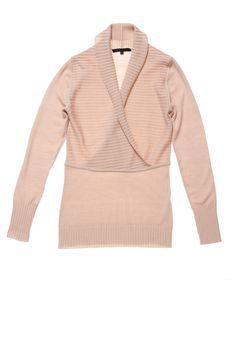 Ascot | Shawl-collar wrap around | Extra-Fine Merino, 18-Micron #cavadesoi #cvds #knitwear #fashion #wool #merino #sweater #pink #nude #blush // February