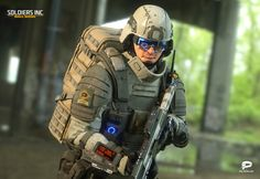 ArtStation - Soldiers Inc: Mobile Warfare, Plarium Ukraine Futuristic Armour, Futuristic Art, Character Concept, Character Art, Character Design, Military Gear, Military Weapons, Cyberpunk, Tactical Gear