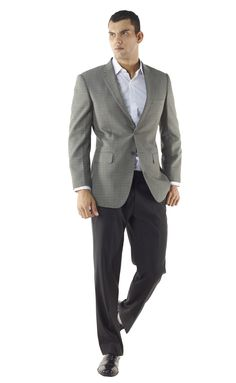 Grey Sports Coat with Black Pants | Fasion | Pinterest | More Grey ...