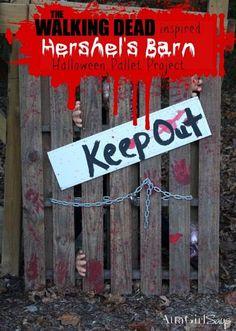 Walking Dead Inspired Pallet Project Halloween Decor