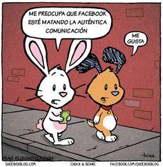 """""""Me preocupa que Facebook esté matando la auténtica comunicación"""" Respuesta: (..) #tira"""