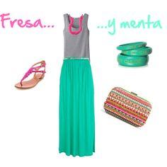 """Fresa y menta"" by lauritamunoz on Polyvore"