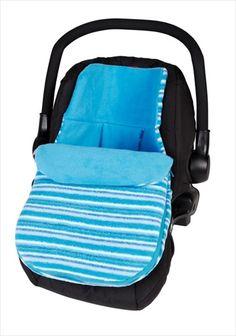 CLAIR DE LUNE Bilstolpose - Fun n Funky Sherbert Blue/Blå. Hold babyen varm og koselig når de er i bilen med denne eksklusive bilstolpose laget i Storbritannia av babyprodukter produsent, Clair de Lune. Denne nydelig bilstolposen er laget av supermyk 'fleece' - perfekt til å holde babyen varm i kalde dager. Egnet for bruk i en gruppe 0 bilstol/Infant Carrier Car Seat med en 5 punkts sikkerhetssele. Kr 459