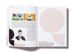 Dit keer is de typografie klein maar hij benadrukt het door het op die manier te plaatsen (in een rode cirkel)
