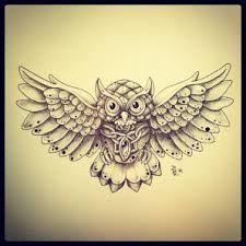 small owl tattoo - Recherche Google