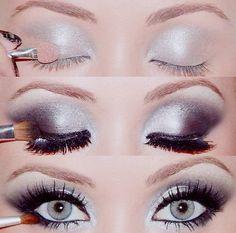Wieczorowy makijaż - krok po kroku