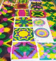 Art and Creativity: Paper Towel Quilts - Teach Math!