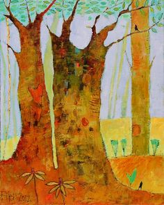 Old Growth 17.5x21.5 acrylic on canvas  Tyler White Gallery - Greensboro, NC