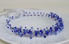 Bridal Royal Blue CrownBridal HeadpieceBlue Crystal от CyShell