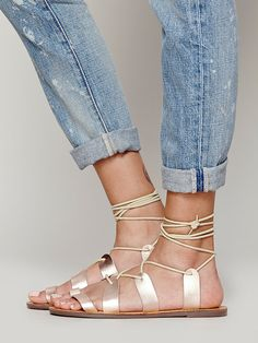 Free People Vegan Tie Up Sandal, $88.00