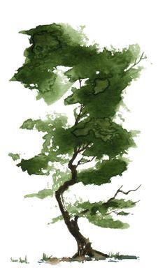 Little watercolor tree art Watercolor Trees, Watercolor Landscape, Tattoo Watercolor, Easy Watercolor, Watercolor Animals, Watercolor Background, Abstract Watercolor, Watercolor Illustration, Watercolor Portraits