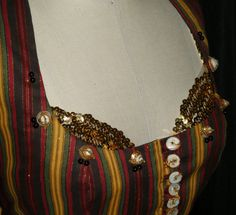 """Gypsy Costume Vest, Renaissance Costume Vest , Turkish Vest, Striped  Renaissance Gypsy Vest, Tribal Dance Vest, """"Equinox 2"""". $40.00, via Etsy. Renaissance Gypsy, Renaissance Costume, Punk Trends, Gypsy Costume, Tribal Dance, Tie Dye Shirts, Belly Dance Costumes, Amber Color, Leather And Lace"""