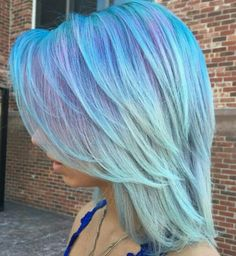 Blue purple pastel hair