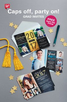 Get OFF custom photo cards! Offer ends 8th Grade Graduation, College Graduation Parties, Graduation Celebration, Graduation Party Decor, Graduation Photos, Graduation Cards, Graduation Announcements, Graduation Invitations, Grad Parties