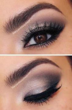 Wonderful look for me - natural, nude, but dramatic, with the dark shades stretching only to the center of the eyelid, not too far into the inner corner. Inner corner shadow makes me look scary. Dark corner needs to fan outwards, not over! by elma
