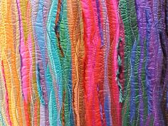 Close up Carol Taylor quilt Silk series