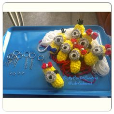 My Crochet Creations❤️ Crochet Minion Key Chains:) $10 I also custom made these clip on key chains:) one crafty chick!
