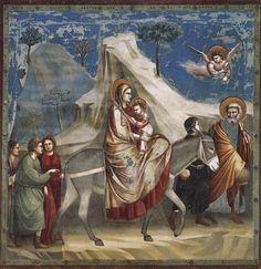 19- Padova, Cappella degli Scrovegni, Giotto- dalle storie di Cristo: Fuga in Egitto