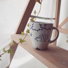 """La tacita que pinté ayer. #hedgehog #teacup"""