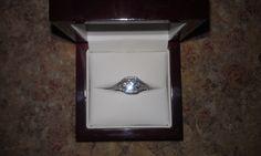 Engagement ring -- Carat radiant diamond in white gold setting Radiant Engagement Rings, Gold Set, Class Ring, White Gold, Diamond, Jewelry, Jewlery, Jewerly, Schmuck