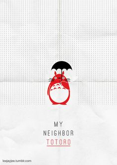 Favourite Movie Poster Project: 8: My Neighbor Totoro (1998) (Notes: Haven't done a movie poster in a gazilion billion years and the o...