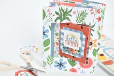 "Double Lever ""Summertime"" Card by Michelle Zerull for #EchoParkPaper"