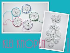 Klei knopen - Clay buttons