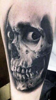 Tattoo Artist - Tye Harris - Skull tattoo
