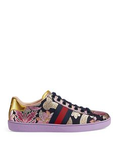Gucci New Ace Brocade Lace Up Sneakers