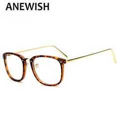 ANEWISH New Fashion Vintage Eyeglasses Women Man Optical Eye Glasses Frame Computer Clear Lens Oculos De Grau Feminino #183 #Affiliate