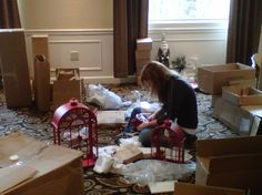 Every detail matters to a Country Door team member as she assembles the Set of 3 Cathedral Lanterns. www.countrydoor.com