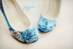 Figgie Shoes-Something-Blue-Pumps Something Blue Personalized Wedding Heels LOVE!