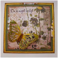 Hobbyboden's Blog: Kort med sommerfugl