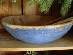 antique blue bowl