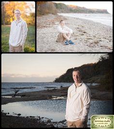 outdoor lakefront senior portraits on beach | grant park, milwaukee| Greenfield High School | Reminisce Studio by Miranda & Adam