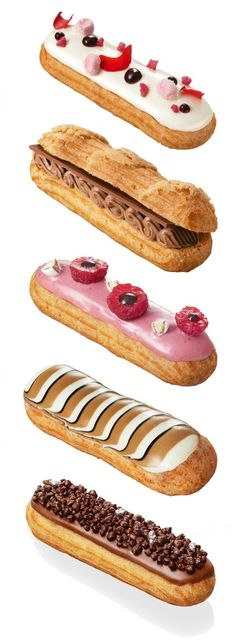 """L'éclair de Génie"" Paris by Christophe Adam francesa francesa Fancy Desserts, Delicious Desserts, Dessert Recipes, Yummy Food, Patisserie Fine, French Patisserie, Patisserie Paris, Logo Patisserie, Eclairs"