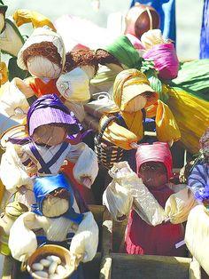 Corn husk dolls at Radford University's Folk Arts Festival