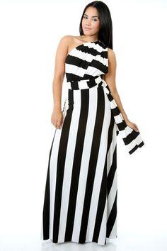 59f108d81e8 Convertible Striped 2 Maxi Dress – PGE online