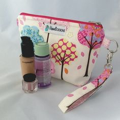 Cosmetic Bag Wristlet - Makeup Case - Medium - Pretty Little Things - Pink on Etsy, $26.90 CAD