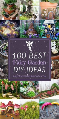100 best diy fairy garden ideas 12 diy garden crafts fun projects ideas and tutorials Diy Fairy Garden, Fairy Garden Houses, Gnome Garden, Garden Art, Fairies Garden, Diy Fairy House, Fairy Houses Kids, Fairy Garden Doors, Diy Garden Decor