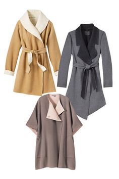 Wool and cashmere capes. Perfect for the Fall and winter weather. Love them! Thanks @ELLE Magazine (US)