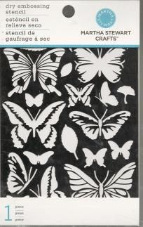 Martha Stewart DRY EMBOSSING Stencil BUTTERFLY GLOSSARY Scrapbooking FREE Shipping $6.25