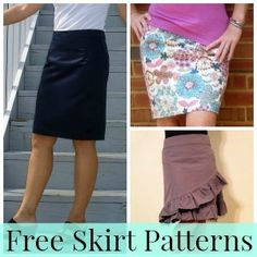 A bunch of skirt patterns for beginners! Choose your style and make your own. <3